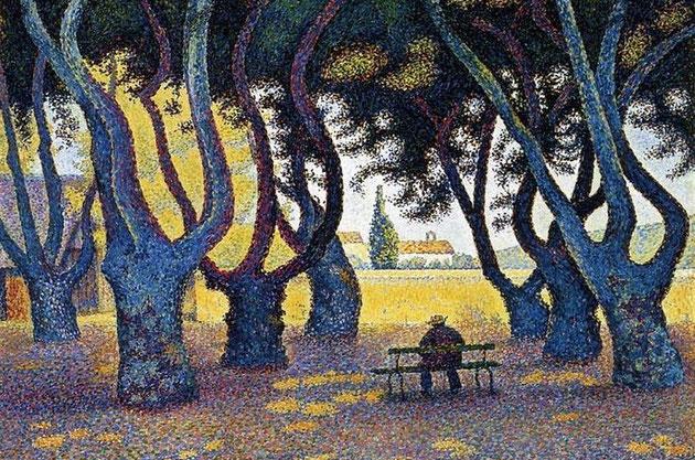 """Paolo Signac, """"Place des Lices, St. Tropez"""" (1893)"""