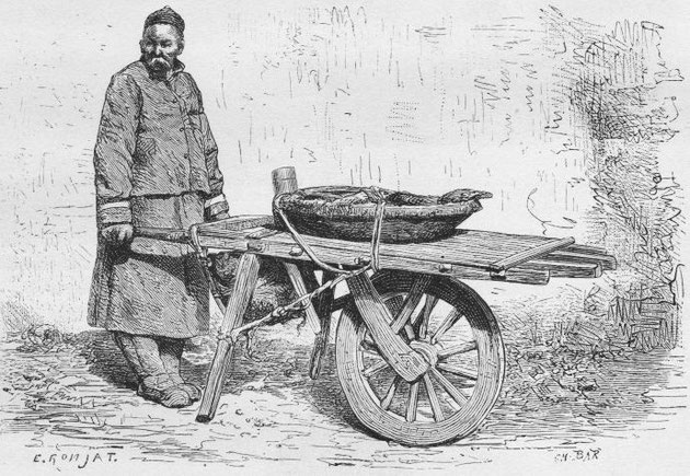 Marchand de fruits ambulant, d'après une photographie du docteur Morache.