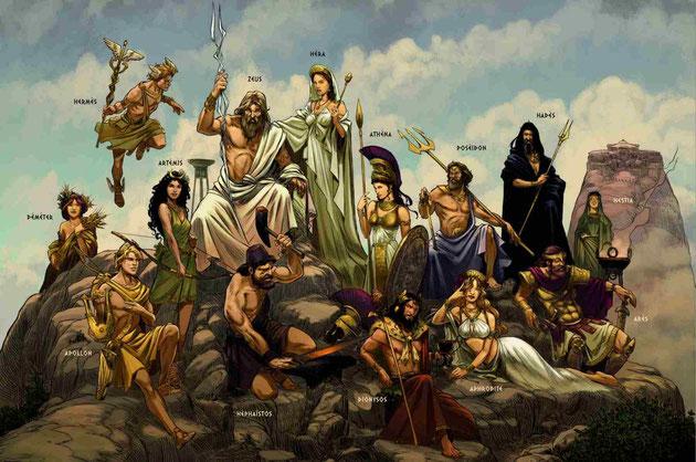Dans son Apologie adressée à l'empereur Hadrien, Aristide d'Athènes écrit: « Les hommes ayant donc pris exemple sur leurs dieux ont commis toute injustice, débauche et impiété, souillant la terre et l'air de leurs horribles actions. »