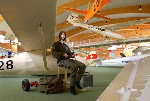 Segelflieger im Deutschen Segelflugmuseum