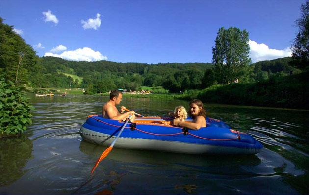 Untere Badesee als Ausflugsziel für Familien