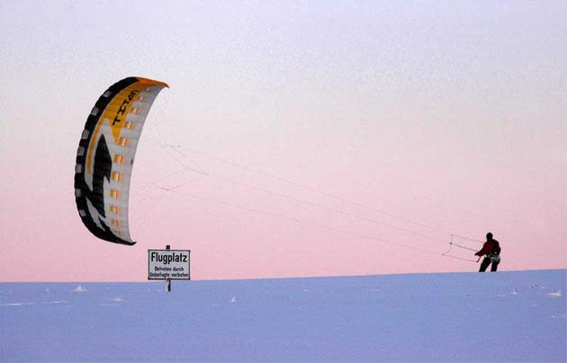 Snowkite auf Wasserkuppe
