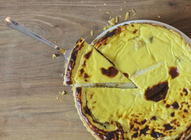 Tarte à la crème de chou-fleur