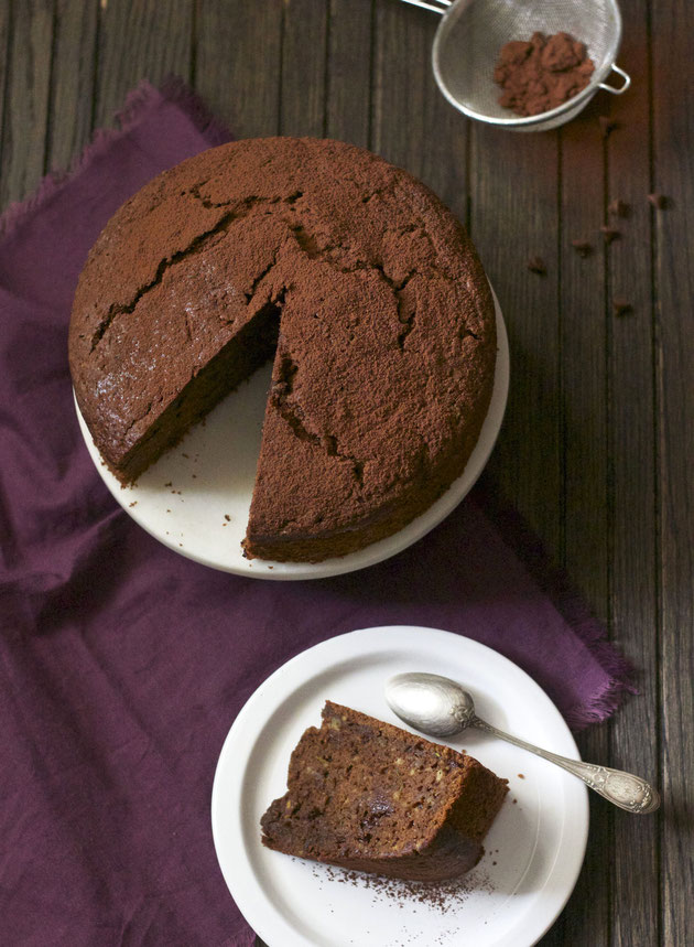 Gâteau moelleux au chocolat et aux courgettes
