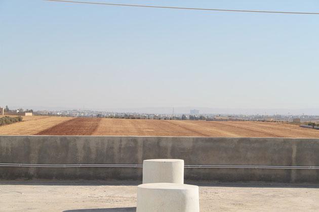 Blick in Richtung Irbid, drittgrösste Stadt Jordaniens.