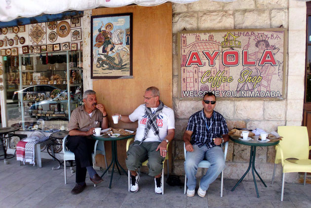 Teezeit in Madaba.