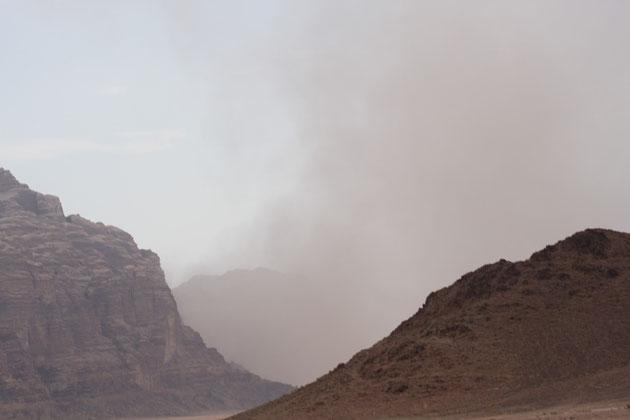 Ein kleiner Sandsturm.