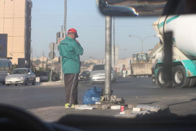 Zeitungsverkäufer in Amman.