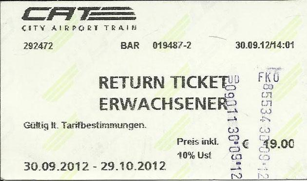 Mit dem City Airport Train für 19 Euro erreicht man in 20 Minuten das Zentrum.