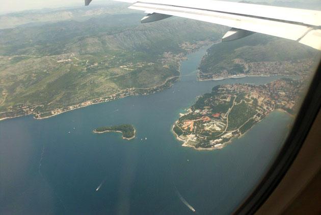 Anflug auf Dubrovnik.