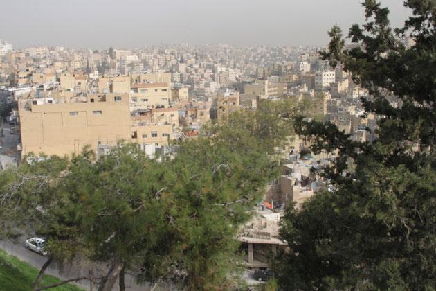 Blich von der Zitadelle auf Amman.