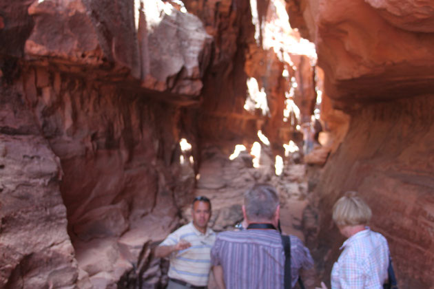 Felsschlucht im Wadi Rum.