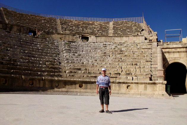 Die altrömische Stadt Jerash-Amphitheater.