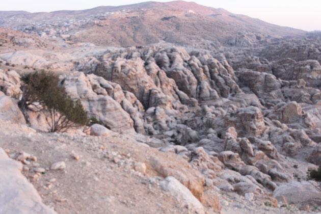Das sogenannte Klein-Petra von oben.