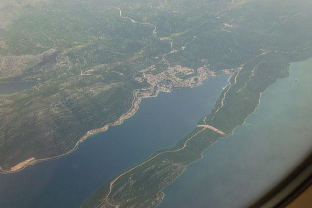 Neum, der Korridor, der Kroatien auf dem Landweg teilt durch Bosnien-Herzegowina.