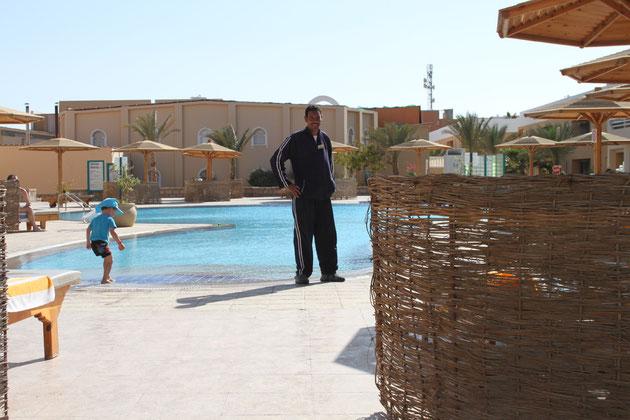 Mahmoud an seinem Arbeitsplatz.