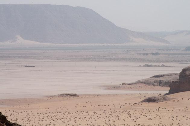 Eine Fata Morgana, das ist kein See, sondern eine Luftspiegelung.