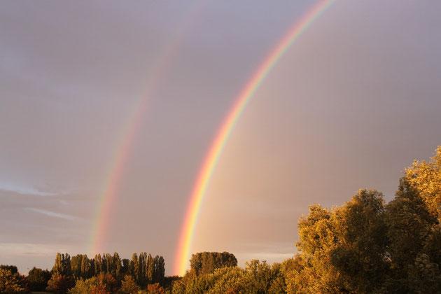 Regenbogen über Alsdorf August 2011