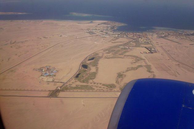 Hurghada aus dem Flieger ff.