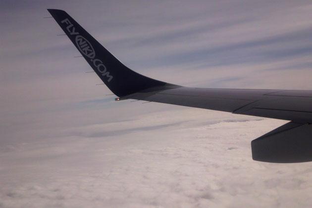 Auf dem Flug nach Wien mit Air Berlin-Niki.