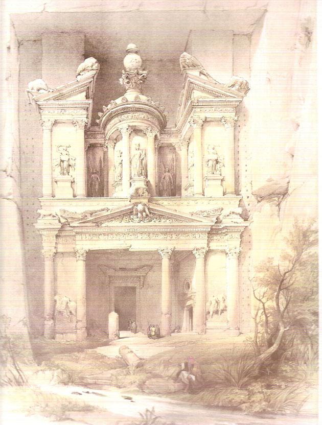 Stich des Schatzhauses aus dem Jahre 1830.