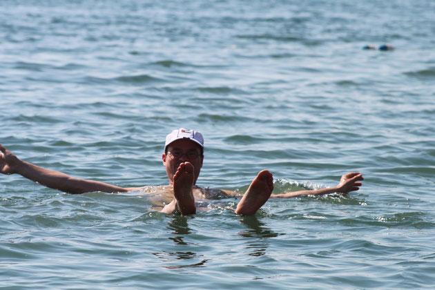 Bad im Toten Meer.