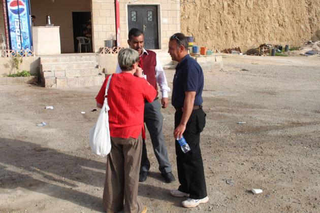 Renate, Kamal und Wael.