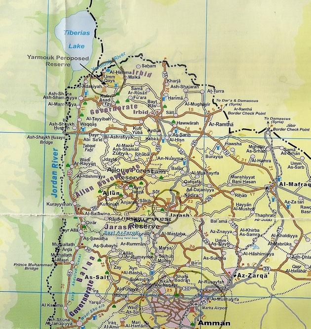 Oben an der Syrisch-israelischen Grenze.