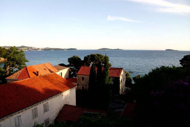 Traumhafte Aussicht auf die vorgelagerten  Inseln.