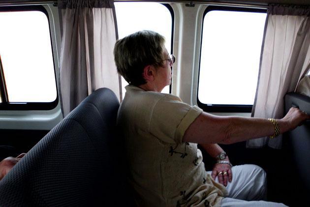 Unterwegs im Minibus.