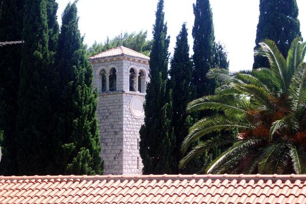 Die Kirche von Mlini, Kroatien ist weitgehend katholisch geprägt.