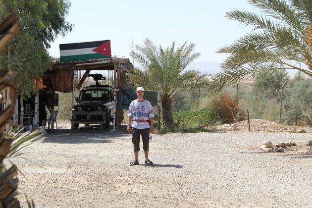 Jordanischer Grenzposten.