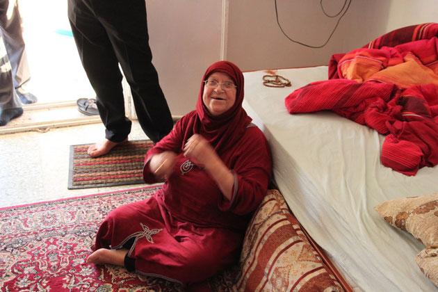 Die Mutter von Wael, sie war eine wunderbare Gastgeberin.