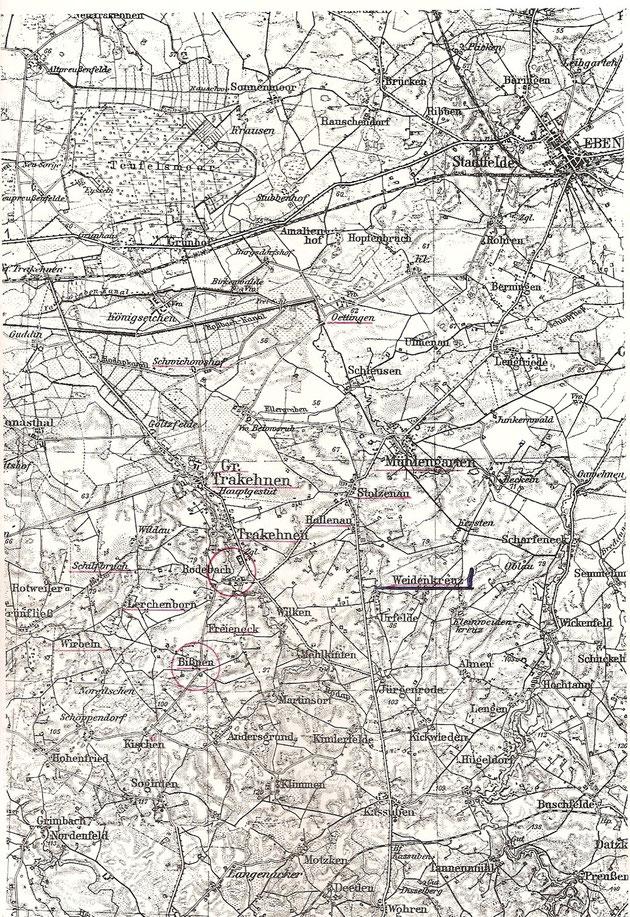 Karte mit Weidenkreuz
