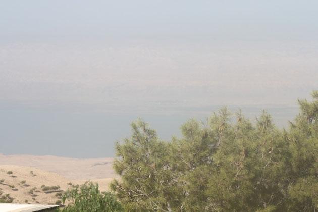 Blick vom Berg Nebo auf das Tote Meer.