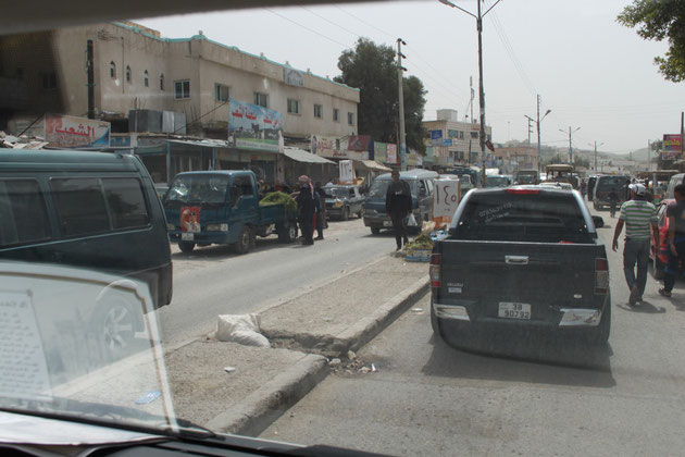 Straßenszene im Jordantal.