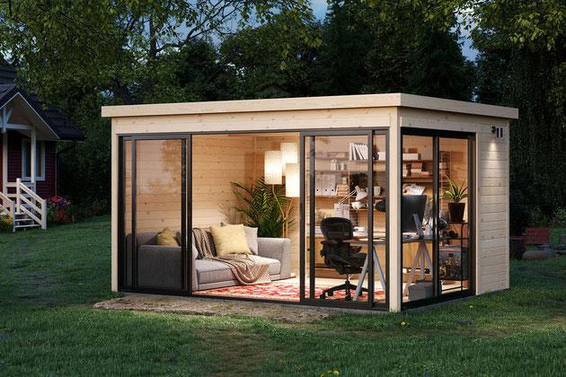 Beispiel für ein Tiny House als Büro im Garten
