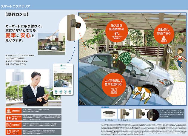 屋外カメラをLIXILのスマートエクステリアに繋げるとできること