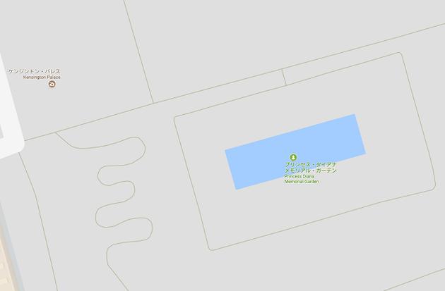 シークレットガーデンはプリンセス・ダイアナ・メモリアル・ガーデンと言う名前になっています。