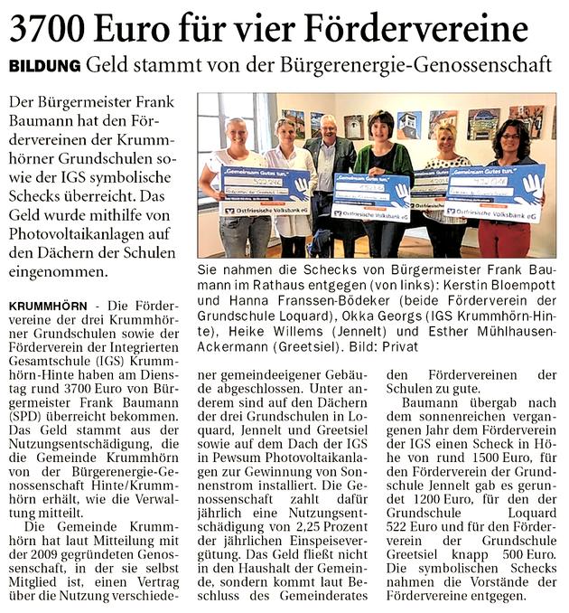 Ostfriesenzeitung 28.06.2019