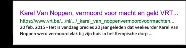 Karel Van Noppen - getuigenis in twijfel getrokken?