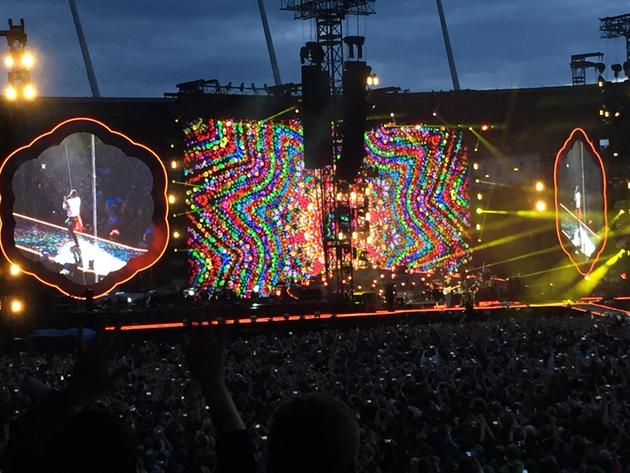 Coldplay am 11. Juni 2016 im Letzigrund, Zürich