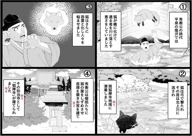 狐禅寺についての漫画