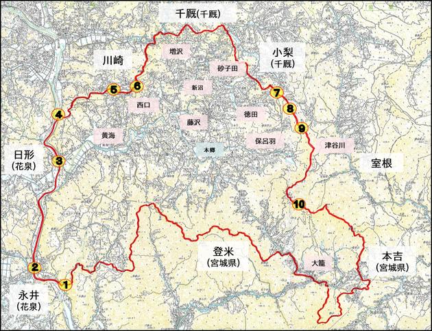 旧藤沢町 地図