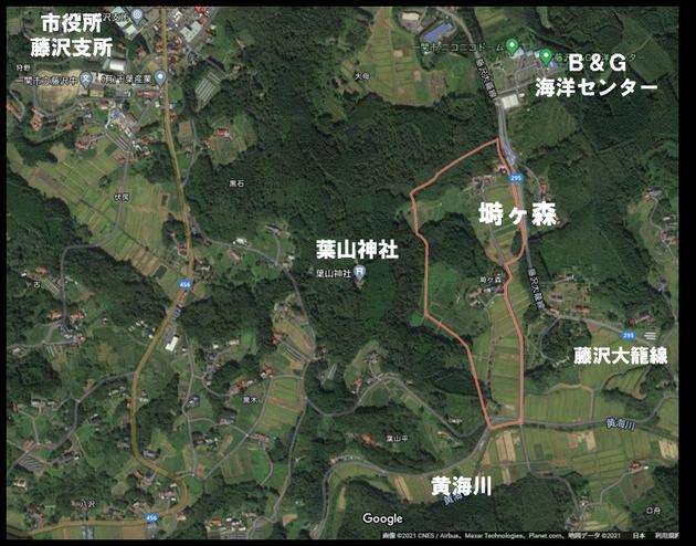 塒ヶ森に行ってみた Google 航空写真