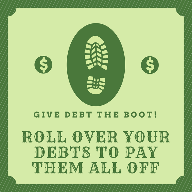 give debt the boot, pay off debt, debt free, debt repay system, pay off multiple debt,