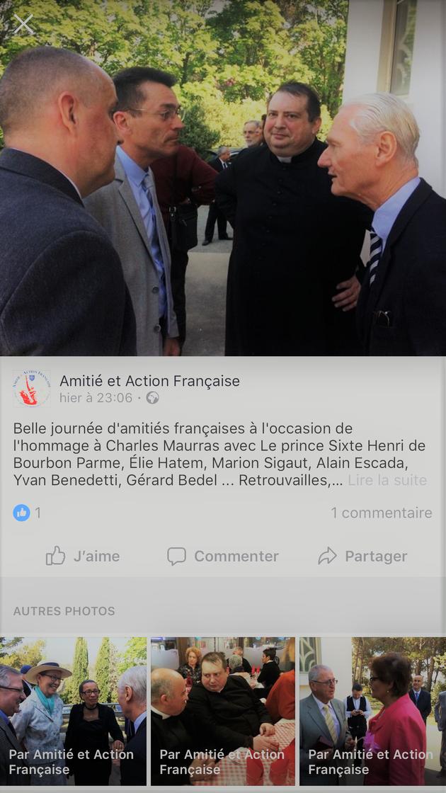 Agréable rencontre au sujet des intérêts du Royaume de France et du Duché de Savoie entre SAR Mon Seigneur Sixte Henri de bourbon Parme et le président de l'assemblée des territoires de Savoie et Nice, Monsieeur Serge Rousseau.