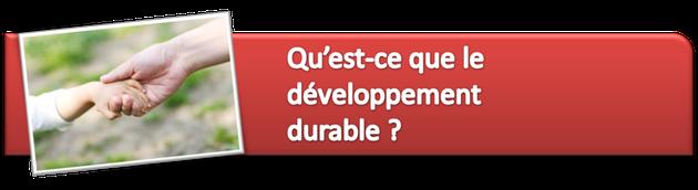 Qu'est que le développement durable ?