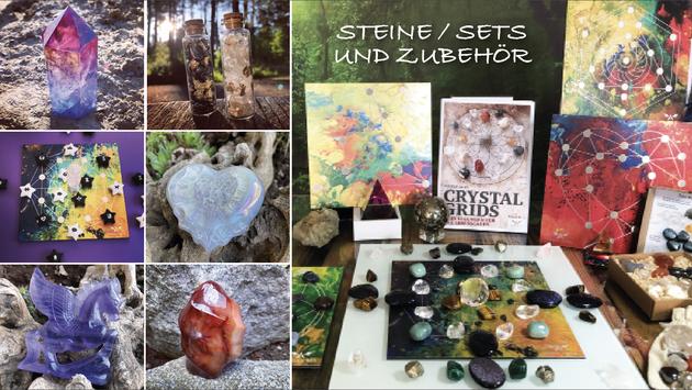 Spiritualität, energetisierte Steine, Steine-Sets, esoterisch, Steine-Anhänger, Crystal Grids