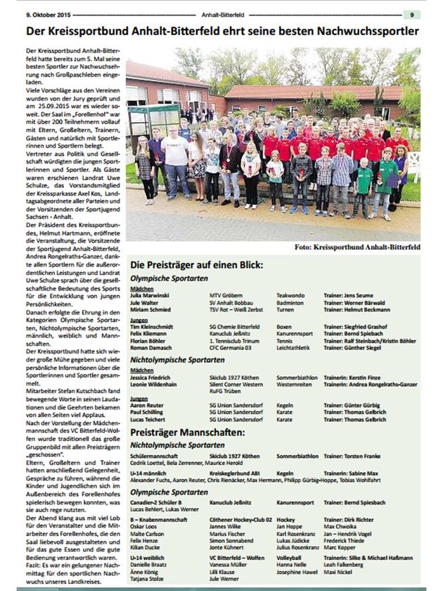09. Oktober 2015 - Mitteilungsblatt Anhalt-Bitterfeld